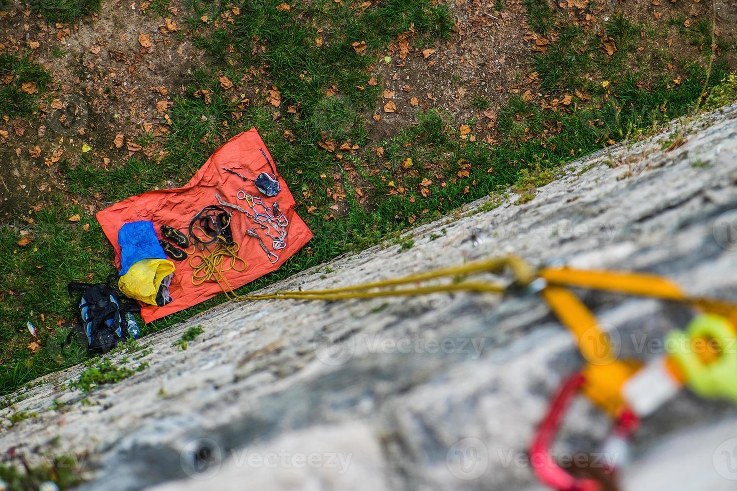 Climbing rock photo