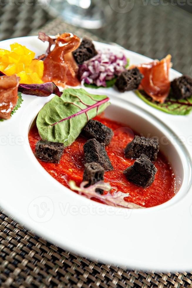 Gazpacho soup photo