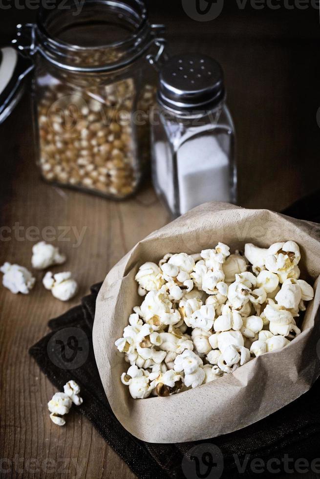 Snacks: Homemade Popcorn. photo