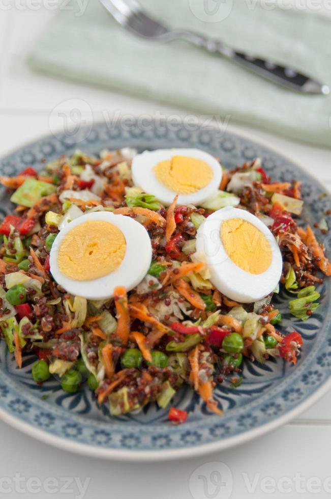 Healthy Quinoa Salad with egg photo
