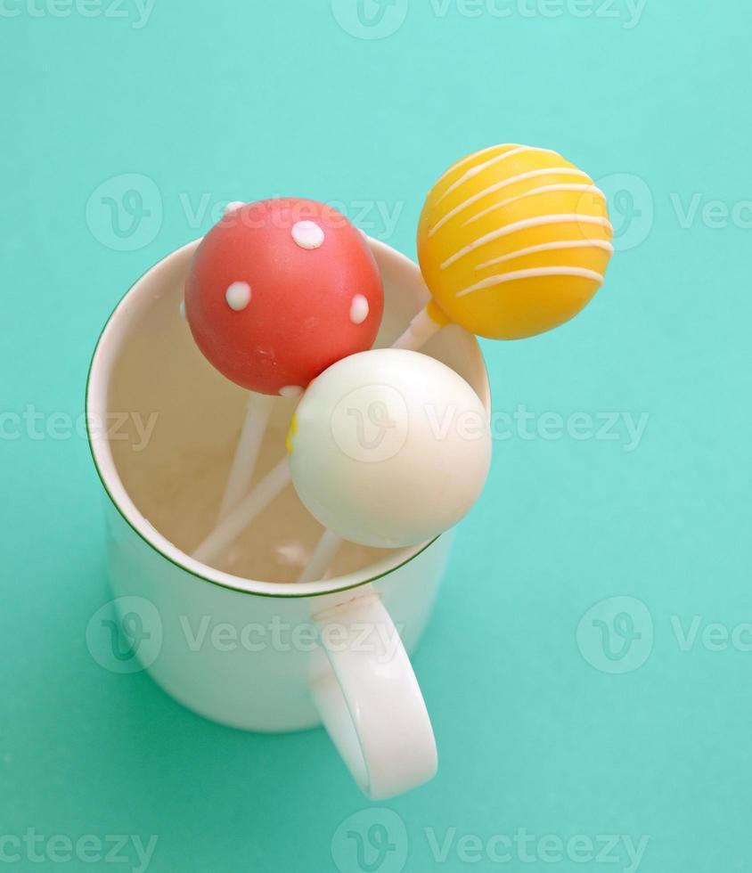Sweet ball stick (cake pops) photo