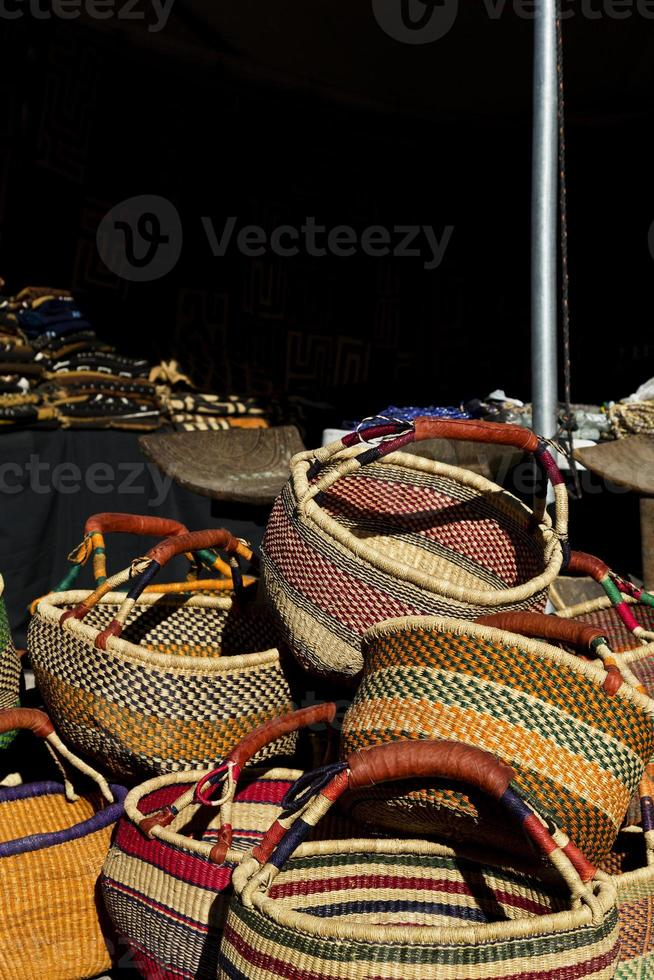 African art baskets at Tucson Gem and Mineral Show photo