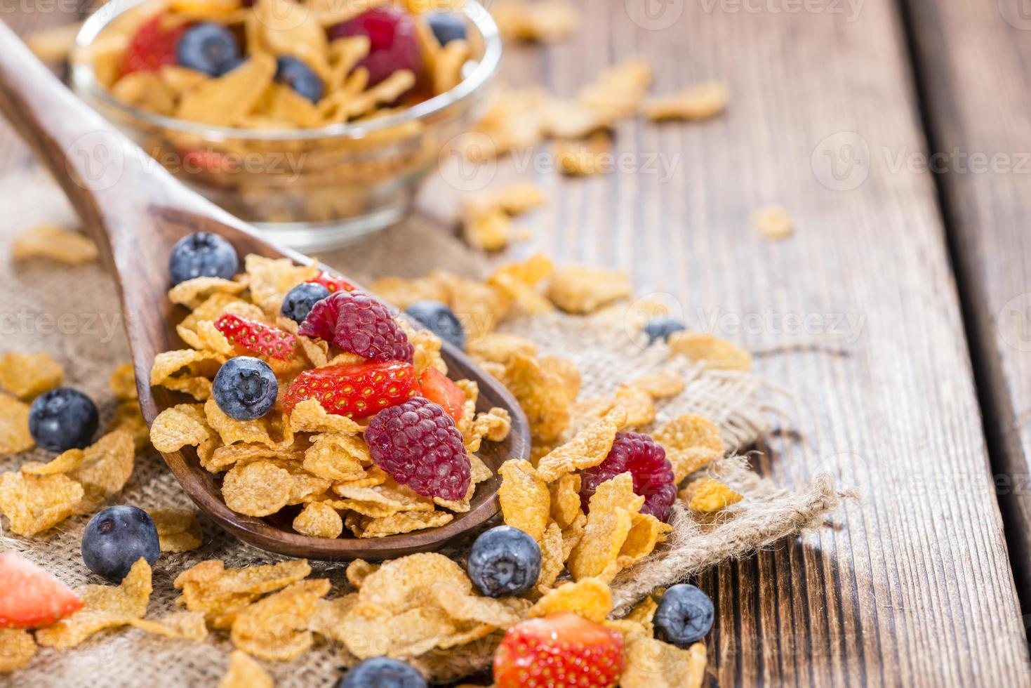 Portion of Cornflakes with Berries photo