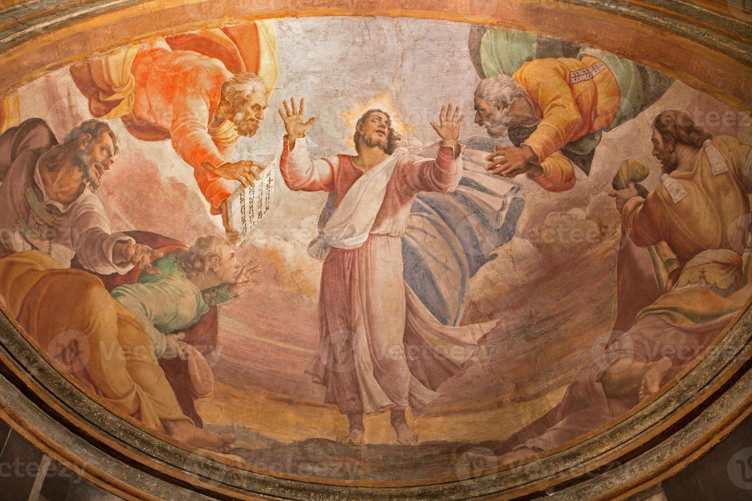 Rome -  Transfiguration on the mount Tabor fresco photo