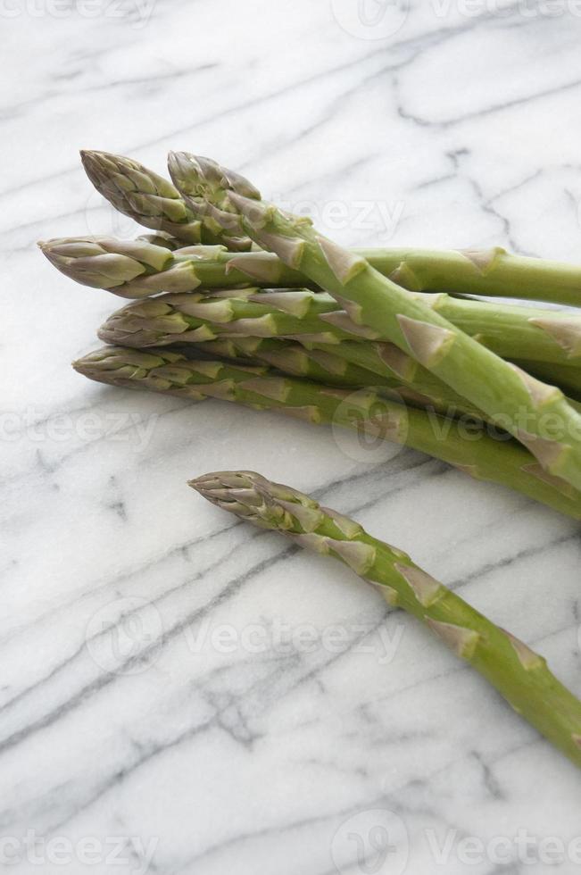 Asparagus on Marble photo