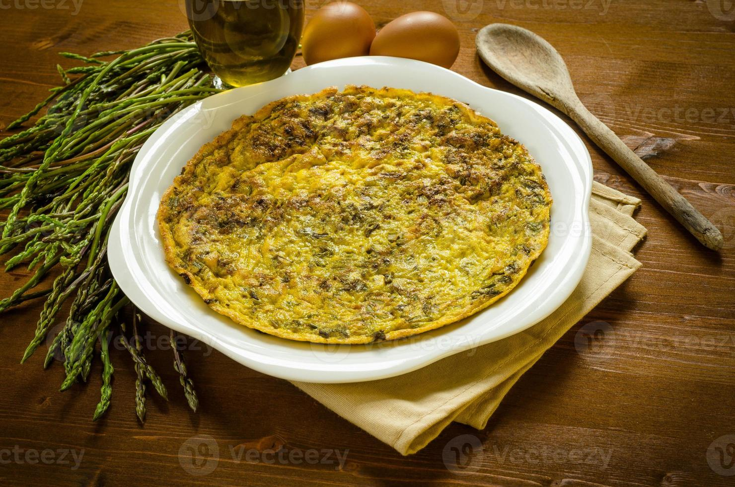 Omelette with asparagus photo