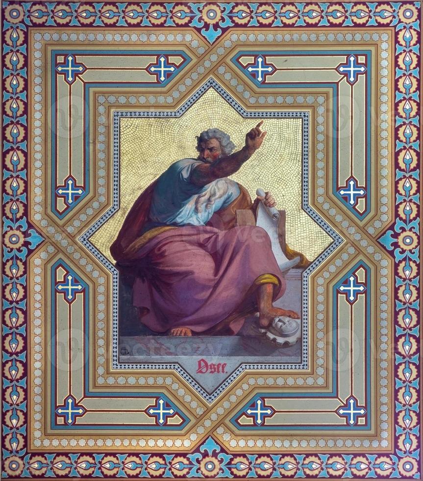 Vienna - Fresco of Hosea prophet photo