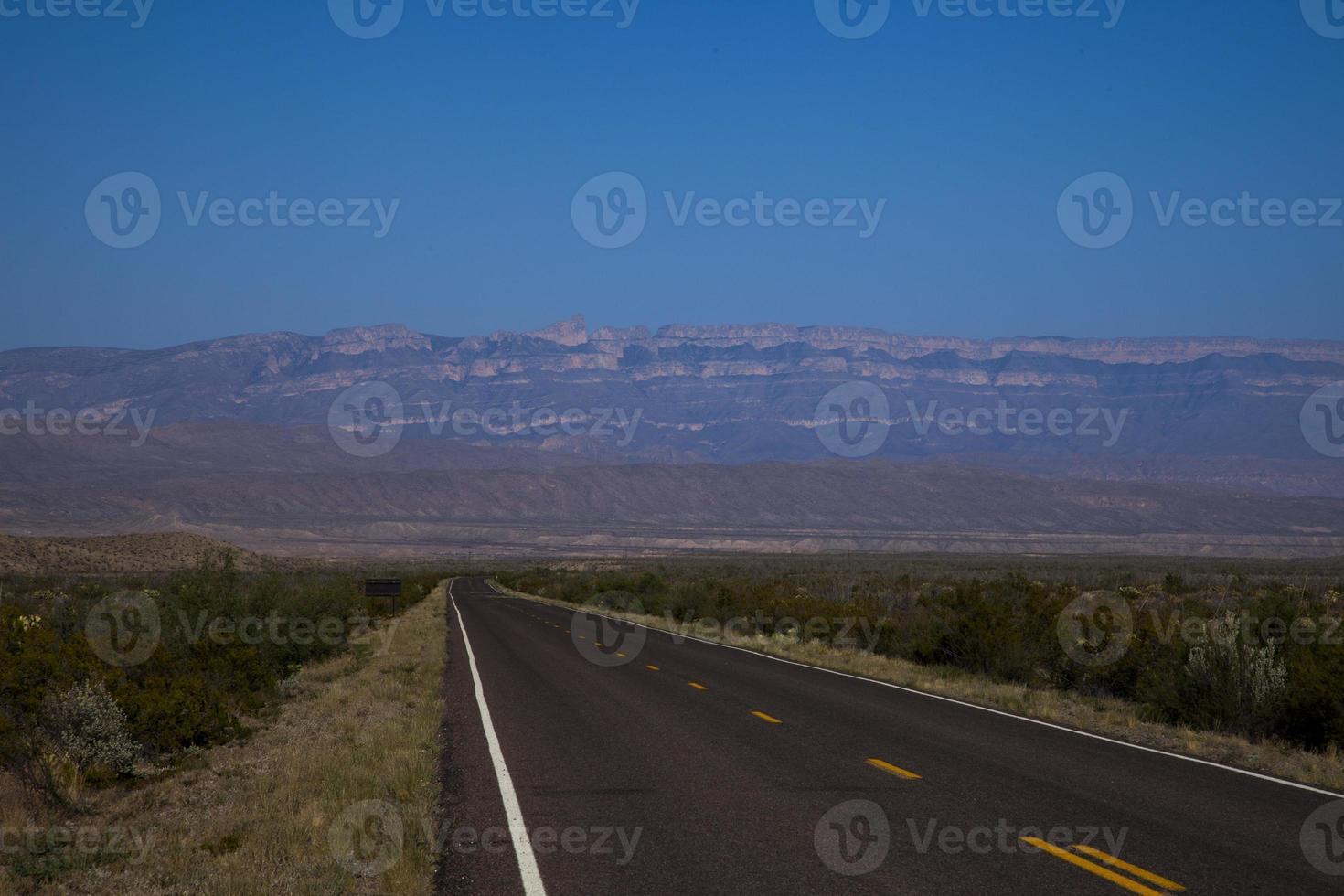 Road vanishes into Southwest Horizon photo