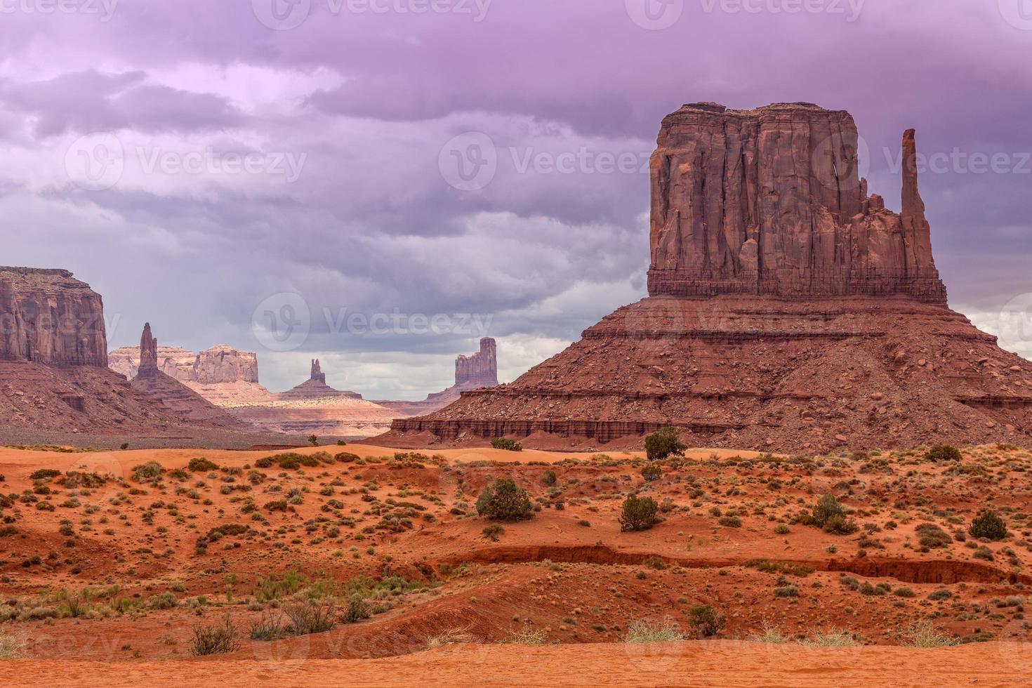 valle del monumento escénico foto