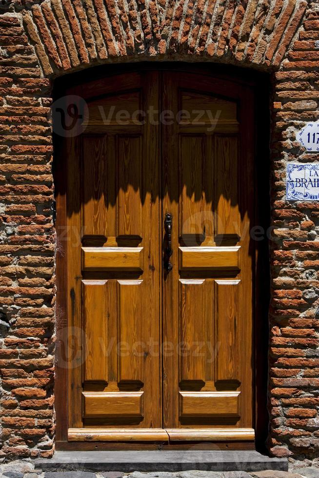 old door  in colonia del sacramento photo