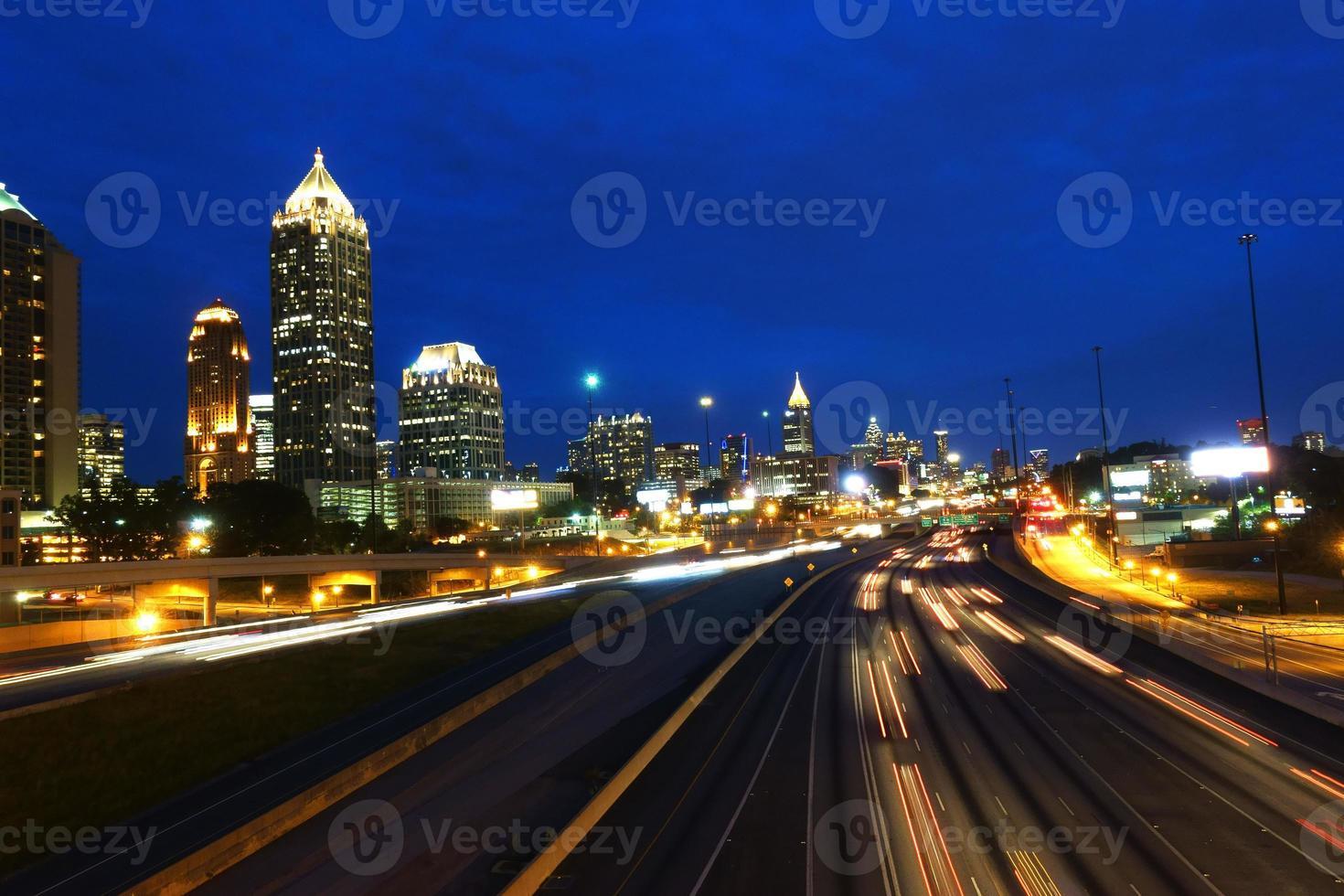 Rush hour in Atlanta, Georgia photo