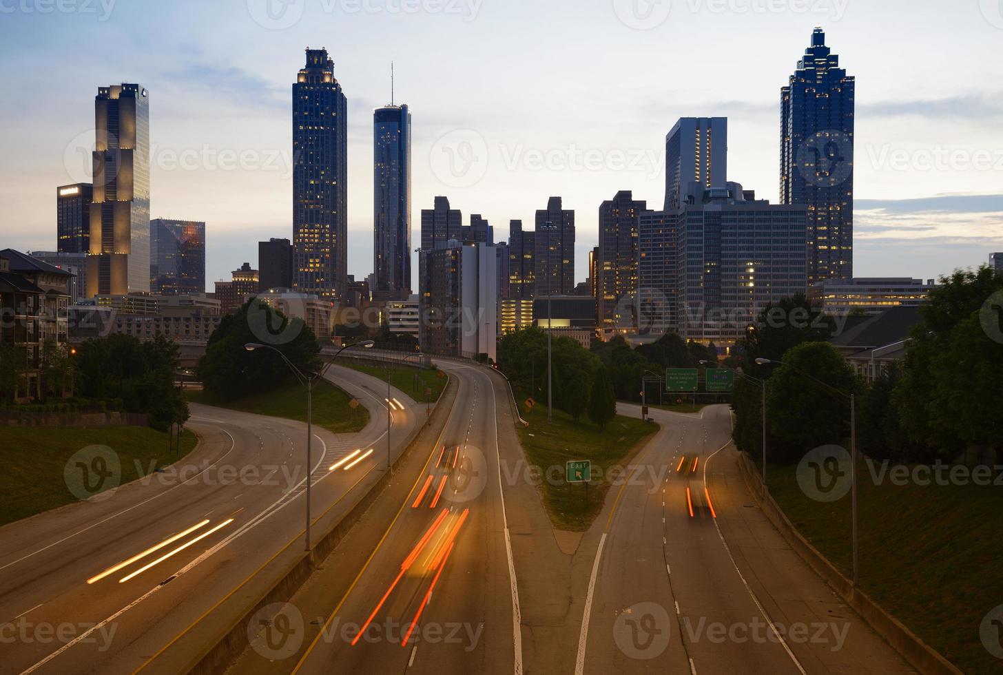 Night Traffic in Atlanta, Georgia, USA photo