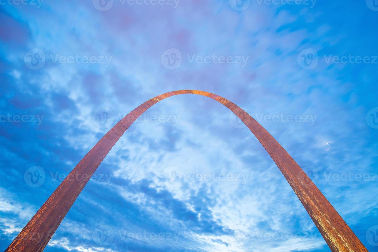 sección superior del arco st louis foto
