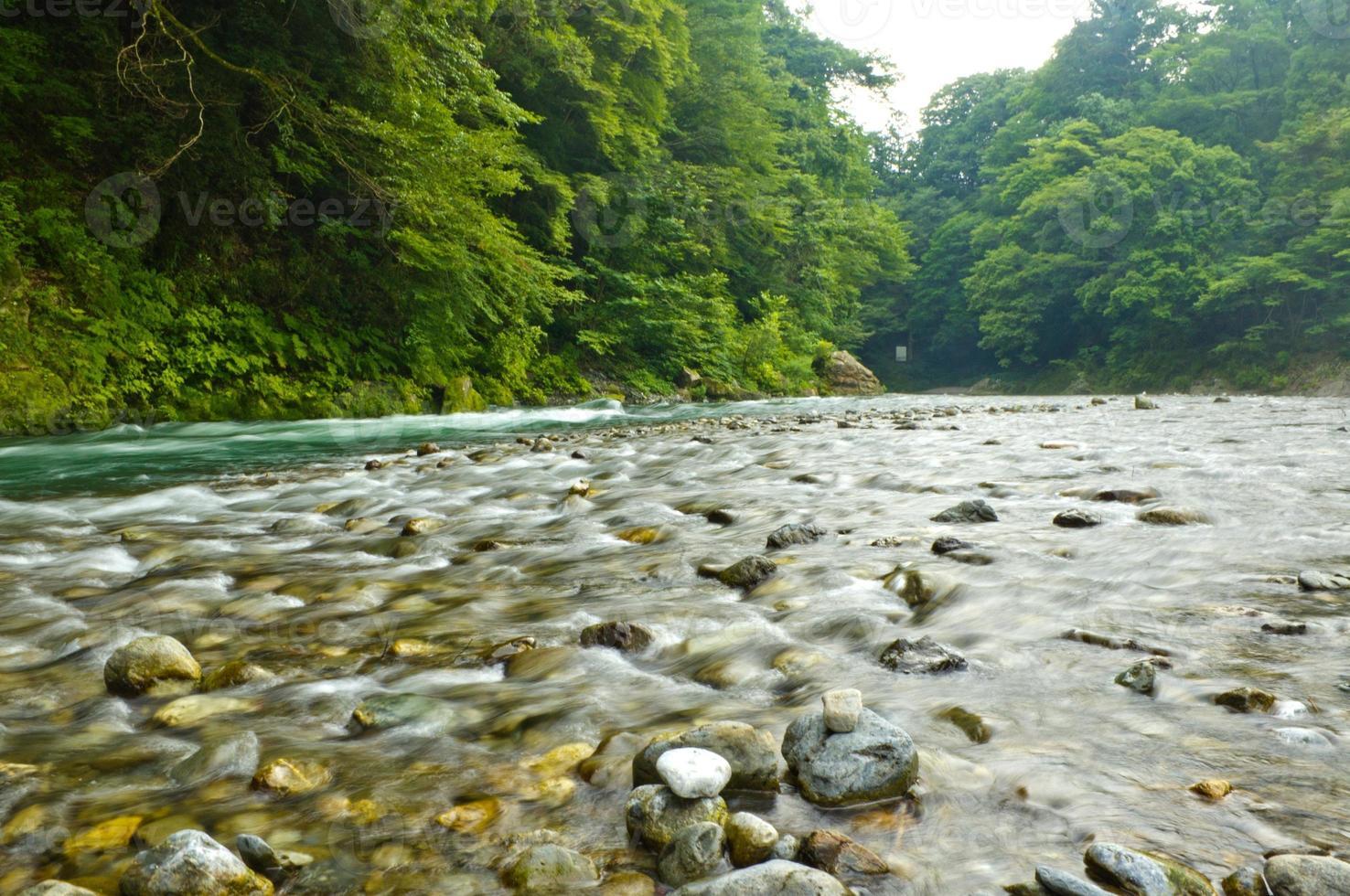 river pebble-ridden photo