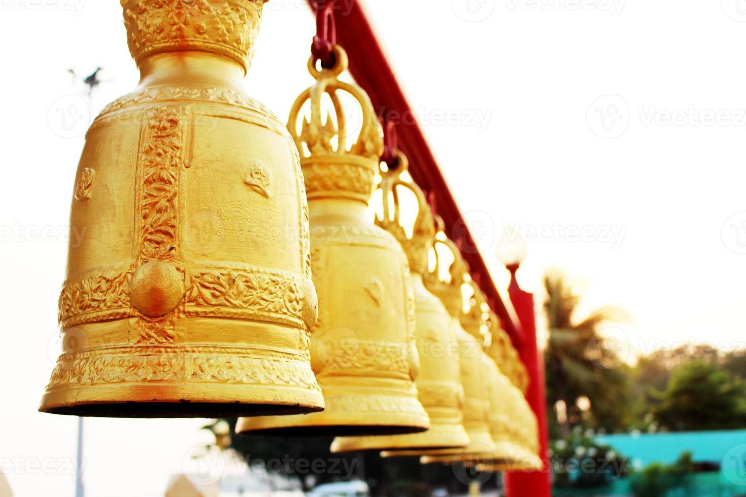 Golden bells in Thailand's Temple photo