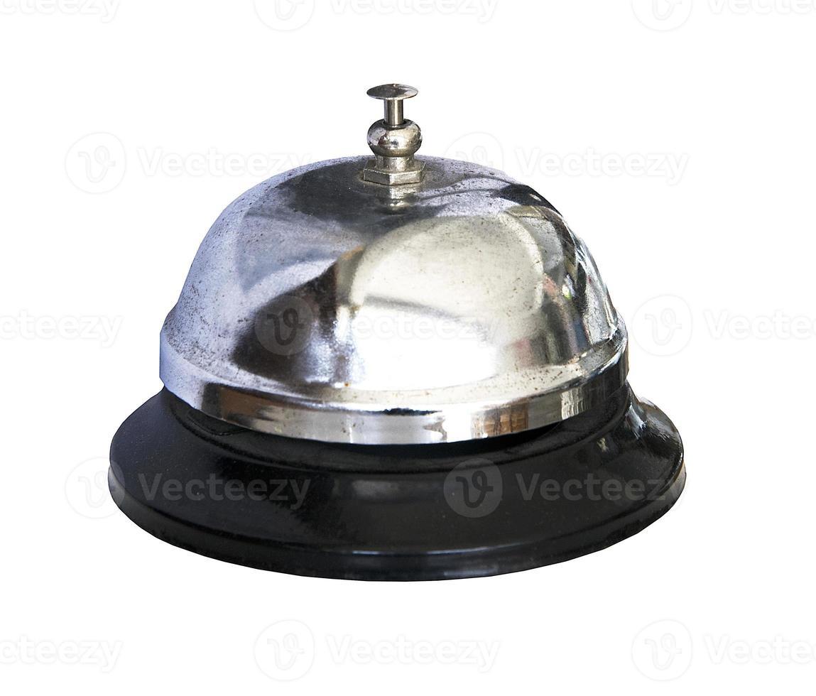 Servicio antiguo campana aislado sobre fondo blanco. foto
