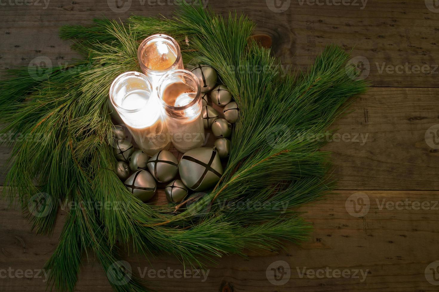 Christmas Wreath Center Piece photo