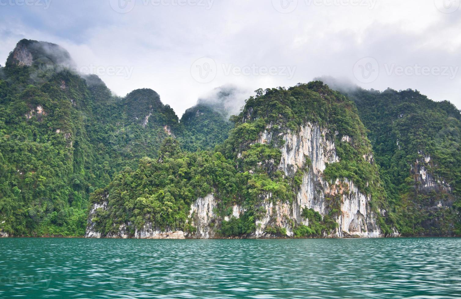 Beautiful mountain surrounded by water, Natural attractions in R photo