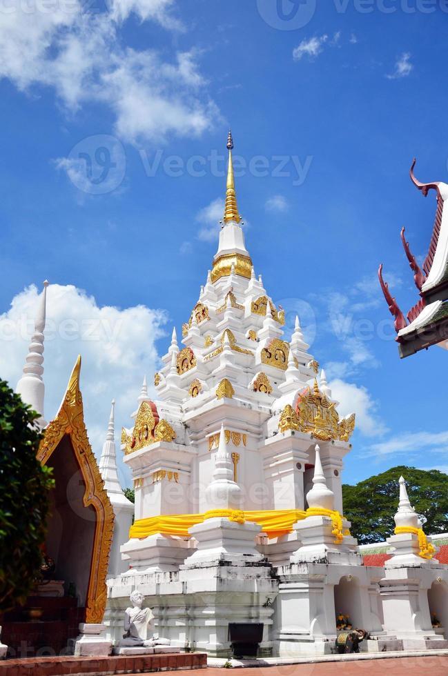 Chedi at Wat Phra Borommathat Chaiya Temple at Surat Thani photo