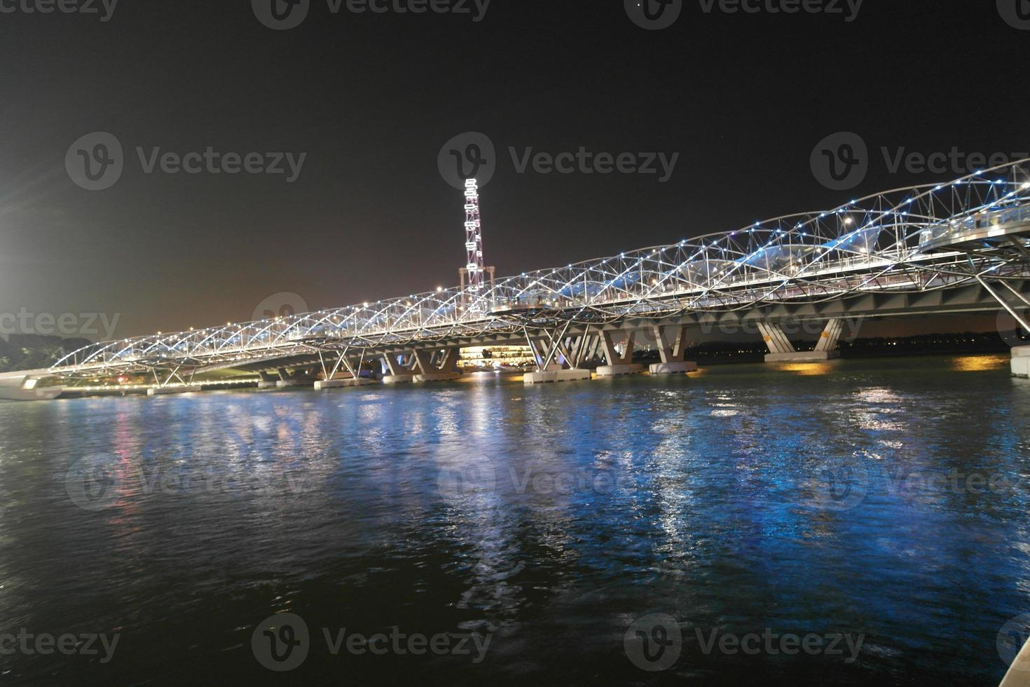 Helix Bridge at Marina Bay in Singapore photo