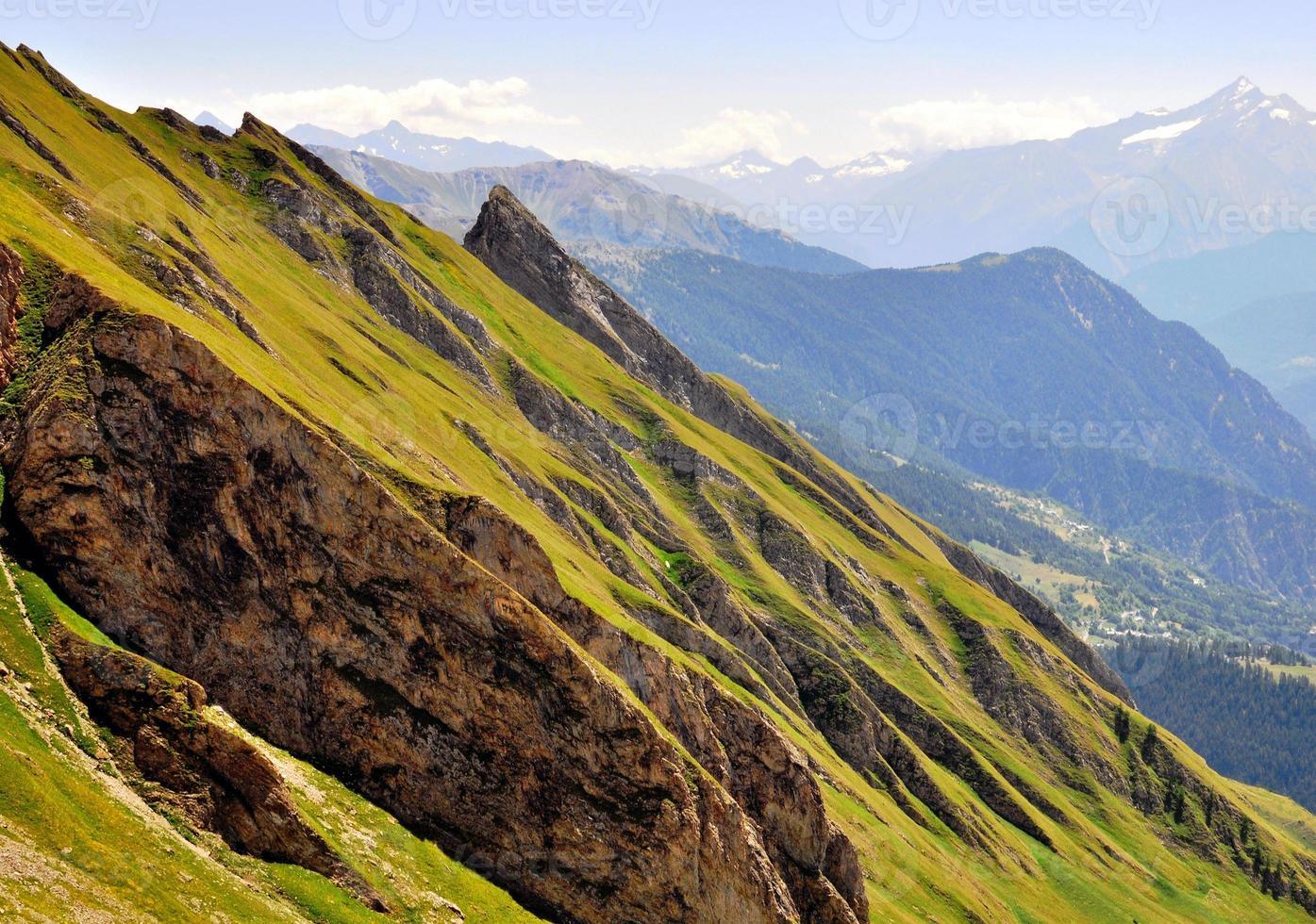 Mountains on summer photo