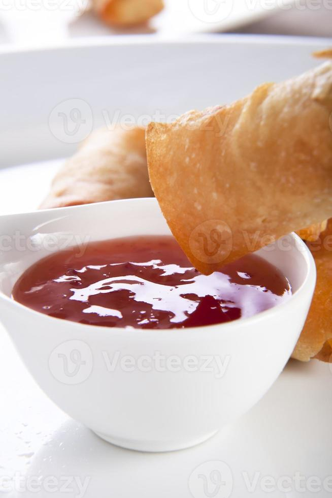Spring Rolls and Sauce photo