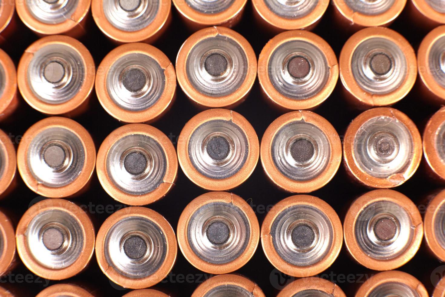 baterías de oro en filas foto