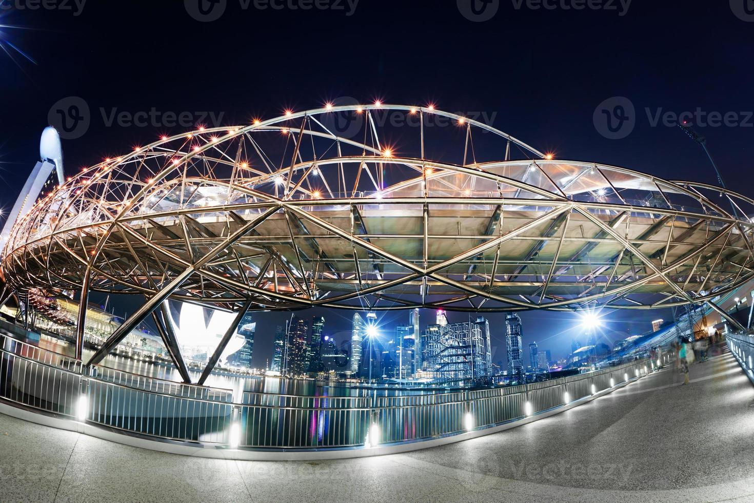 puente de hélice, singapur foto