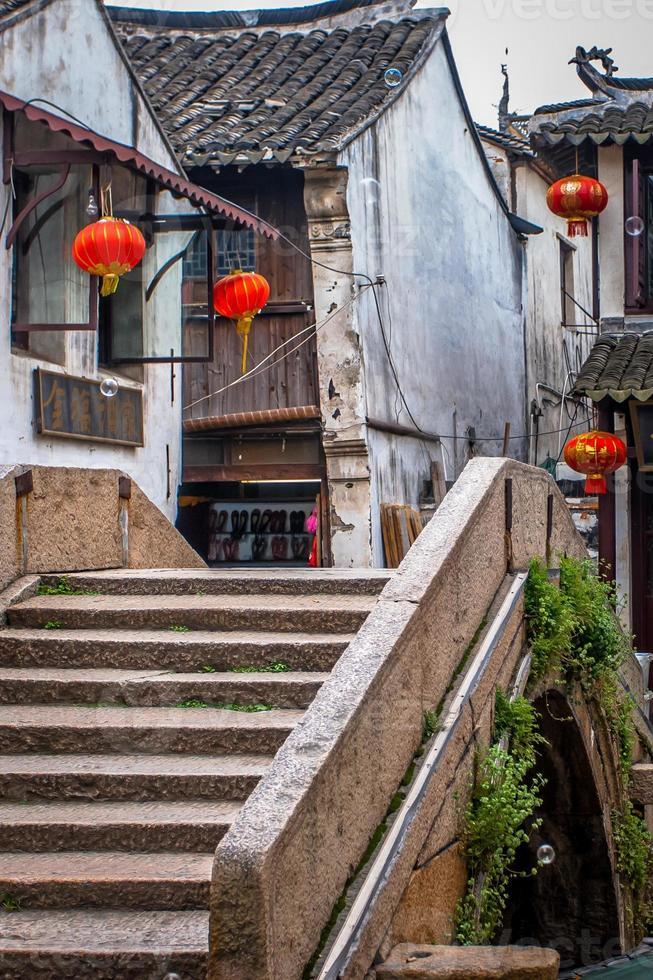Ancient chinese bridge photo