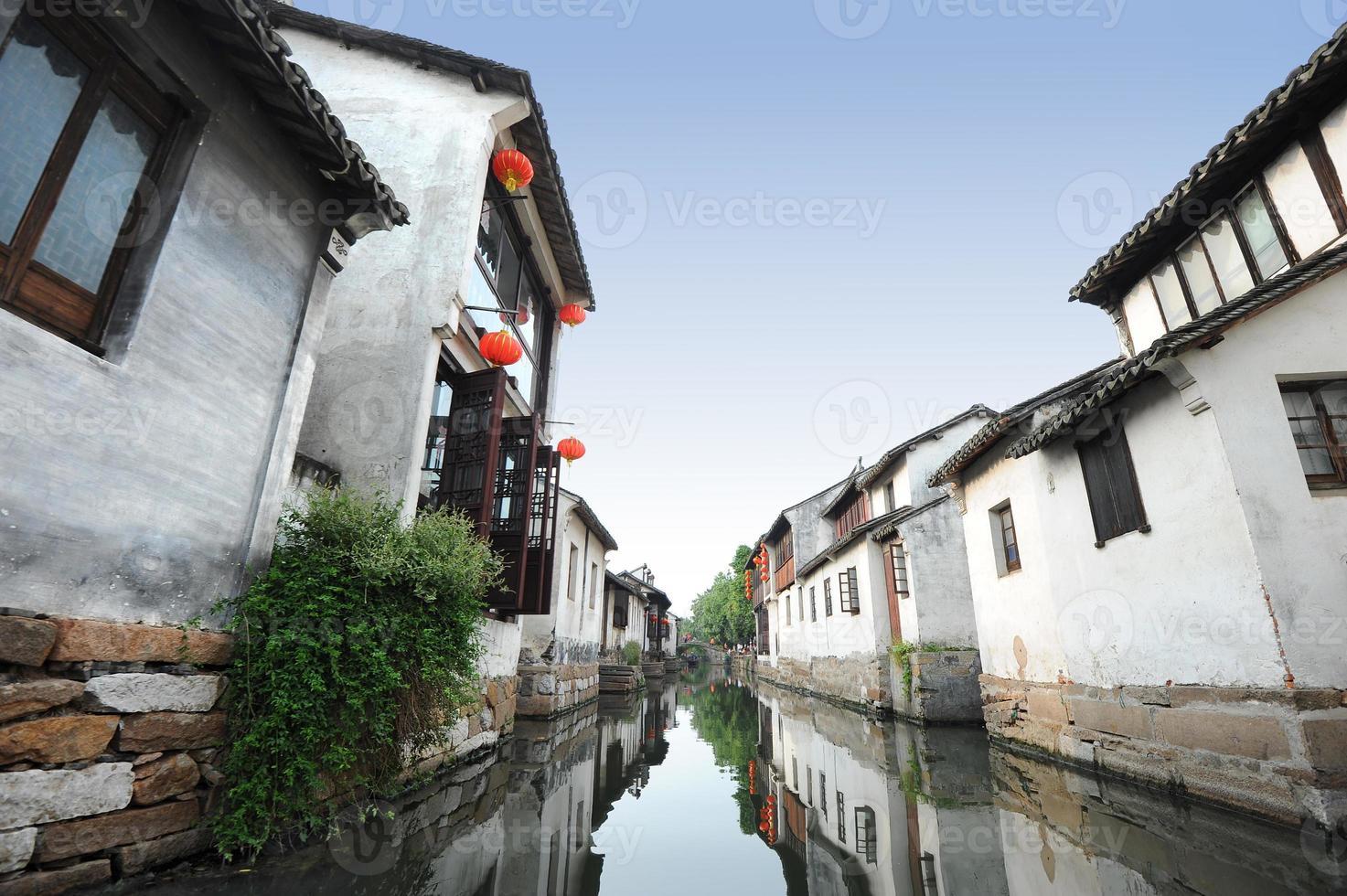 hermosa ciudad china del agua foto