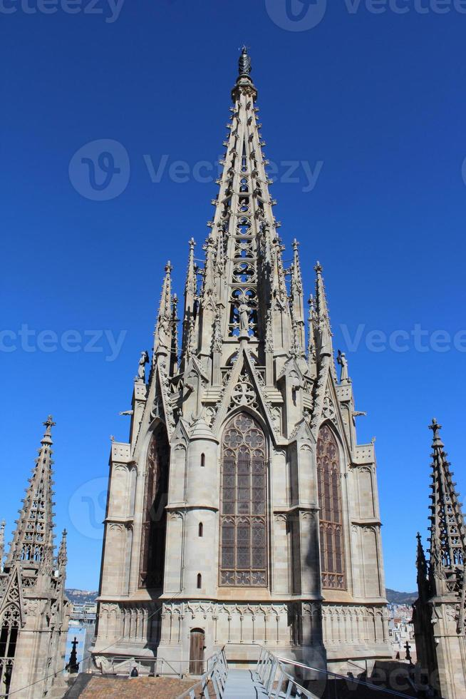 Cathedral of the Holy Cross and Saint Eulalia, Barcelona, Spain photo