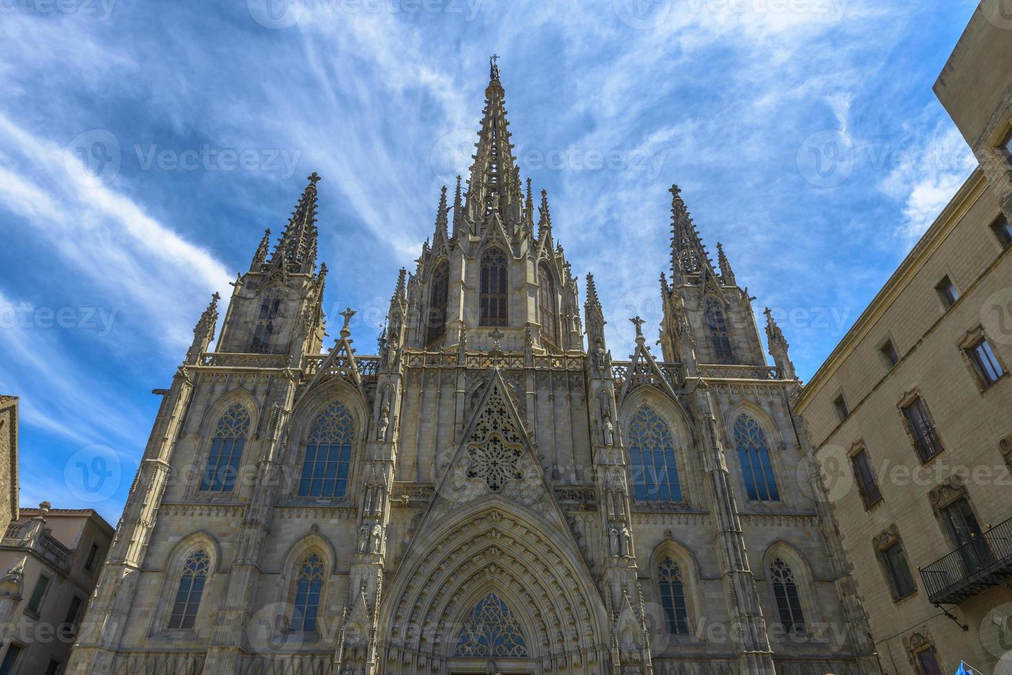 catedral en barcelona, españa foto