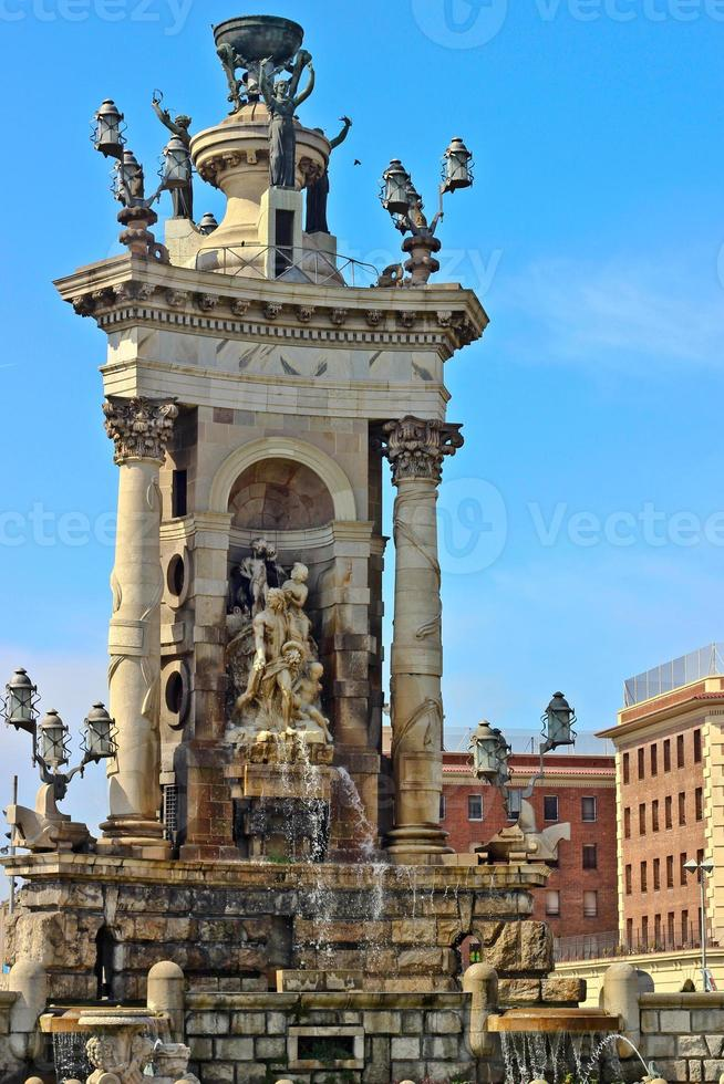 fuente de la placa de espanya, barcelona foto