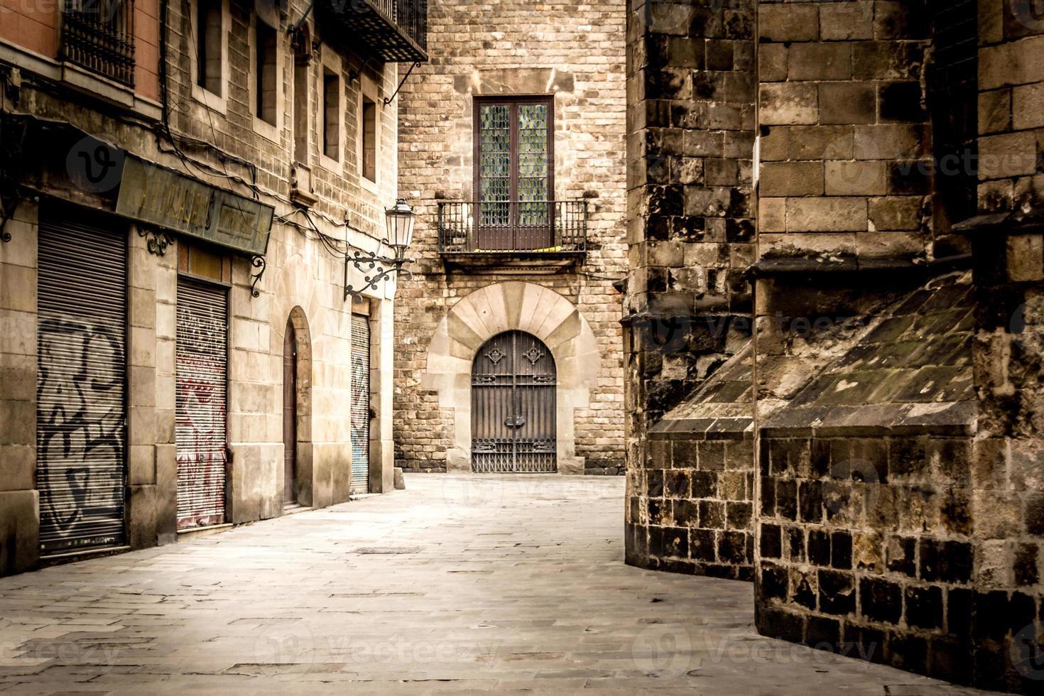 callejón de estilo antiguo foto