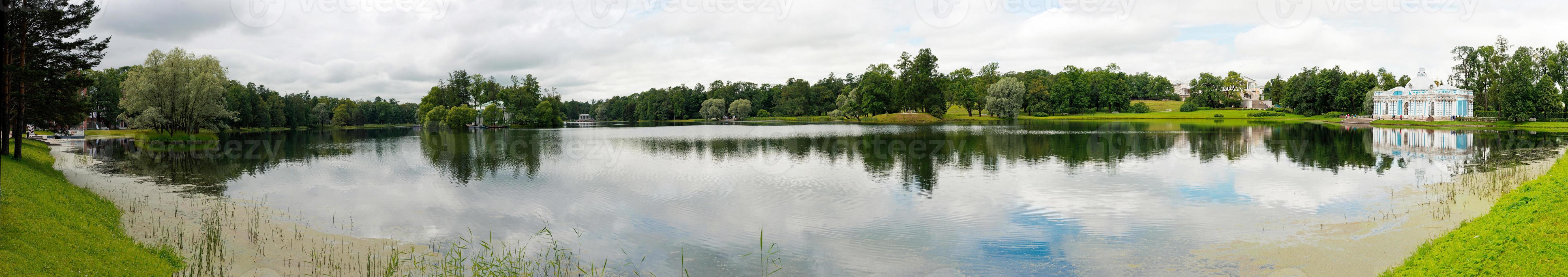 Lake panorama in Catherine Park 1168. photo