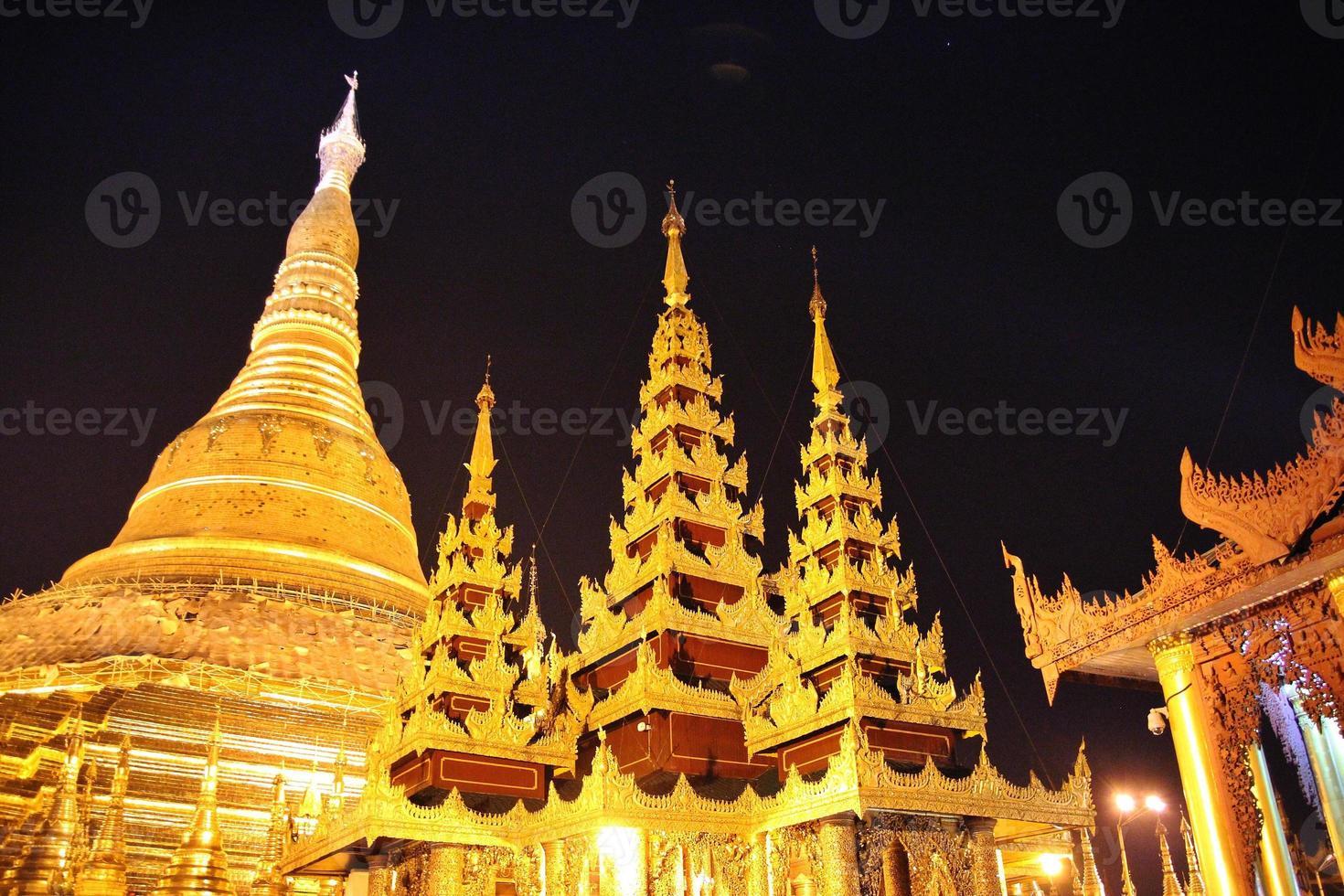 Pagoda Shwedagon, Yangon, Myanmar foto