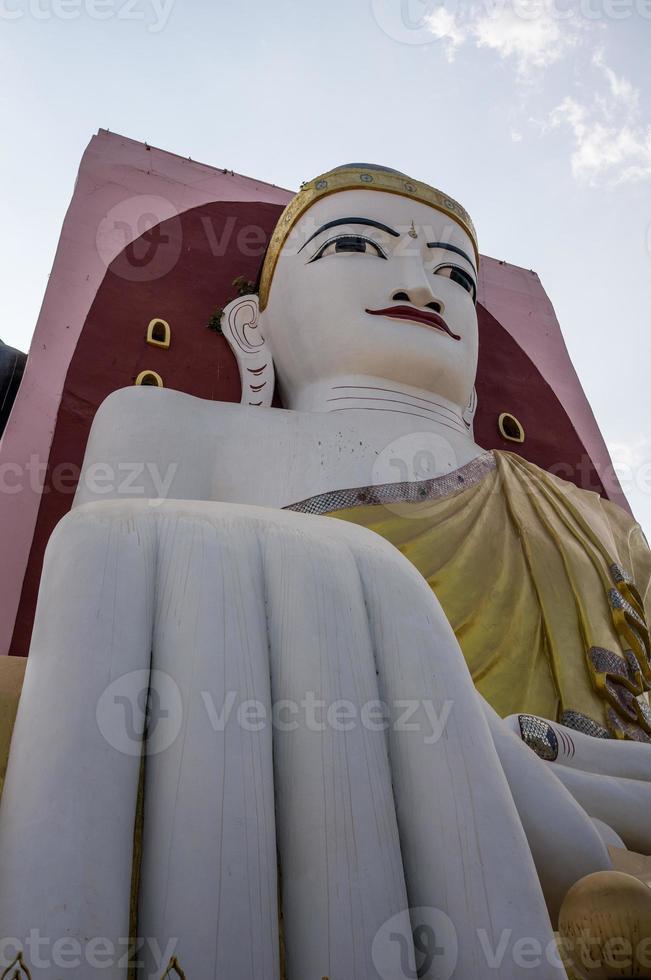 Big White Buddha in Bago Myanmar photo
