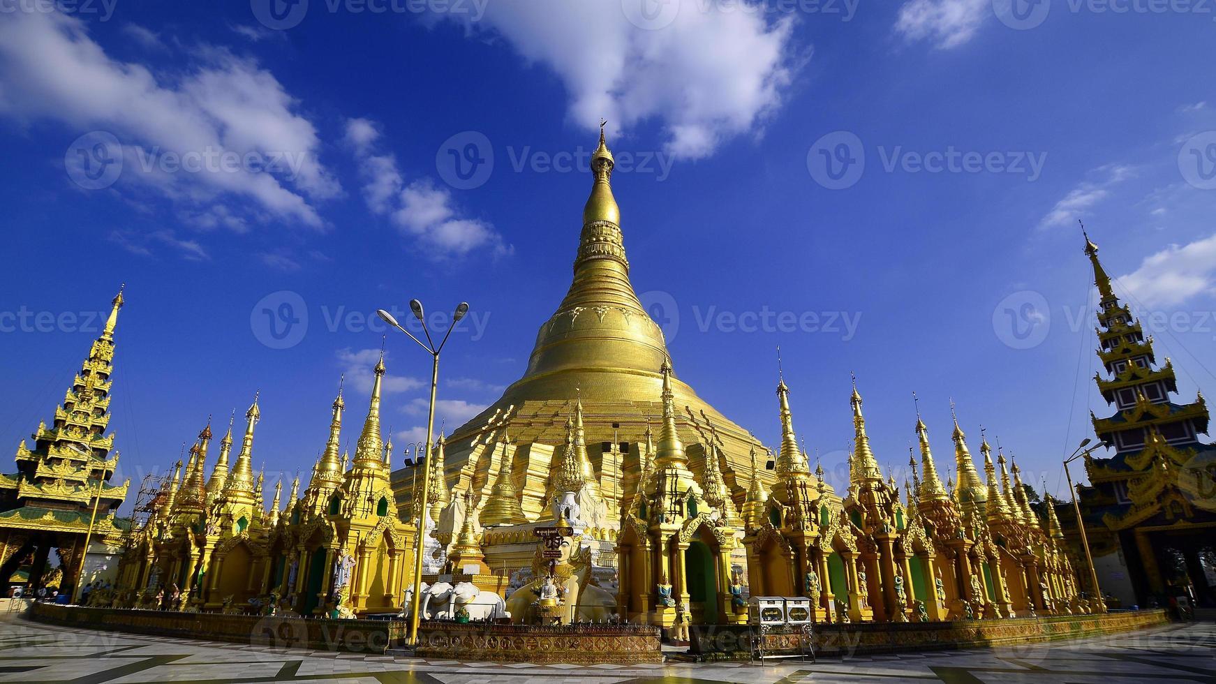 Shwedagon Pagoda in Yangon,Myanmar photo