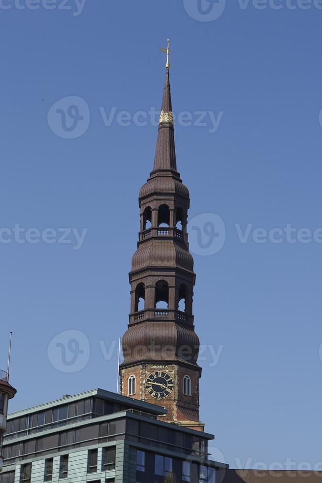 hamburgo - iglesia de st. catherine foto