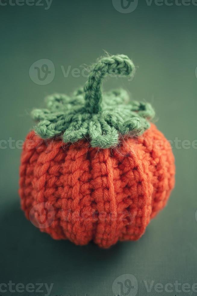 Cute Crocheted Mini Pumpkin photo