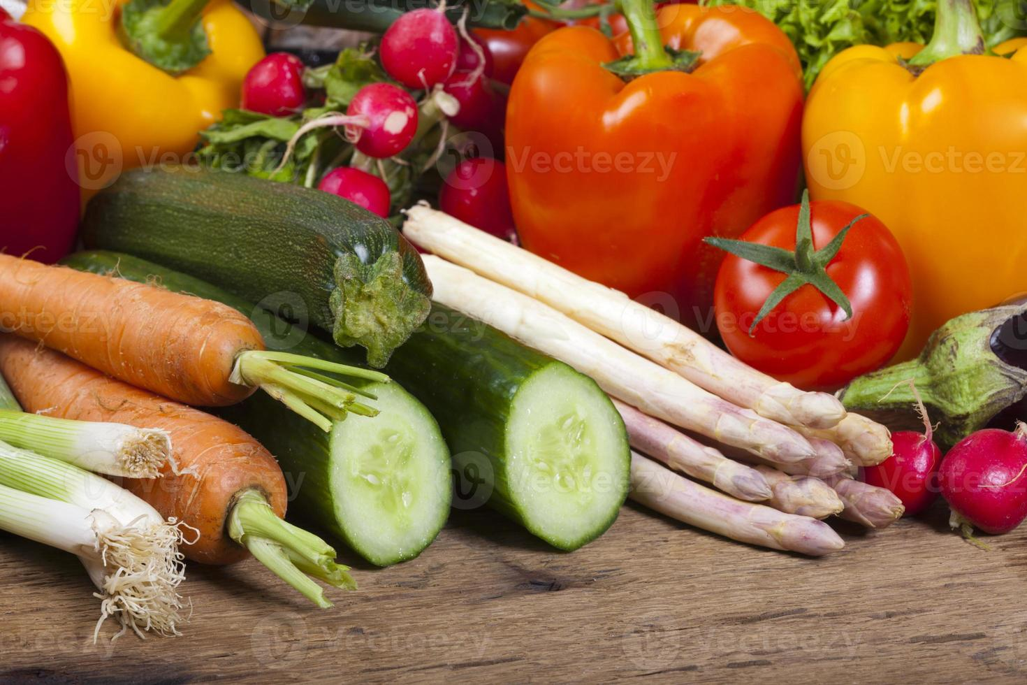 Different fresh tasty vegetables photo