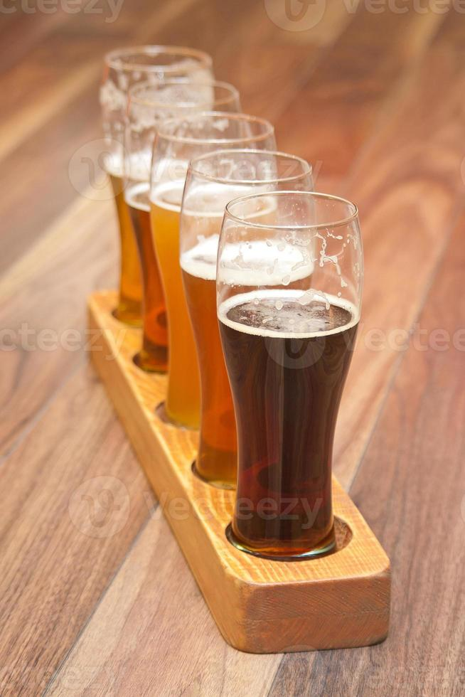 vuelo de cerveza foto