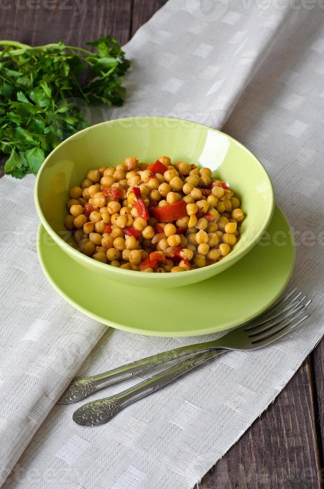 Chickpea stew with vegetables photo