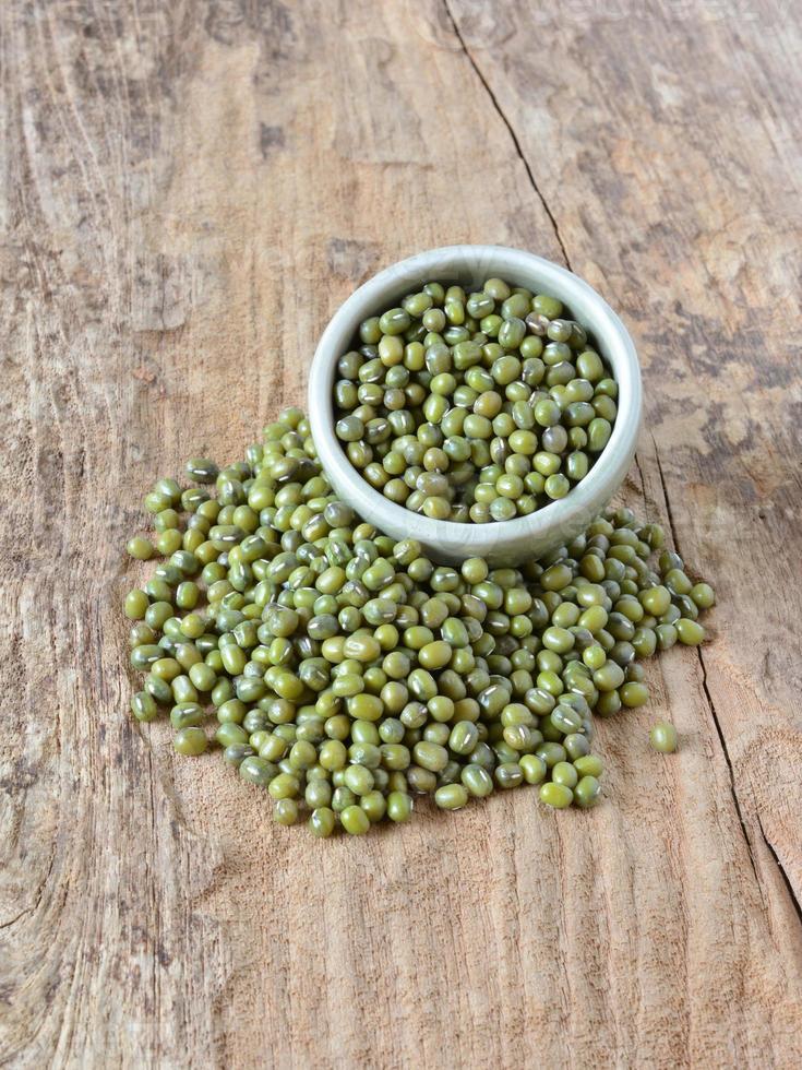 Fondo de frijol verde o frijol mungo. foto
