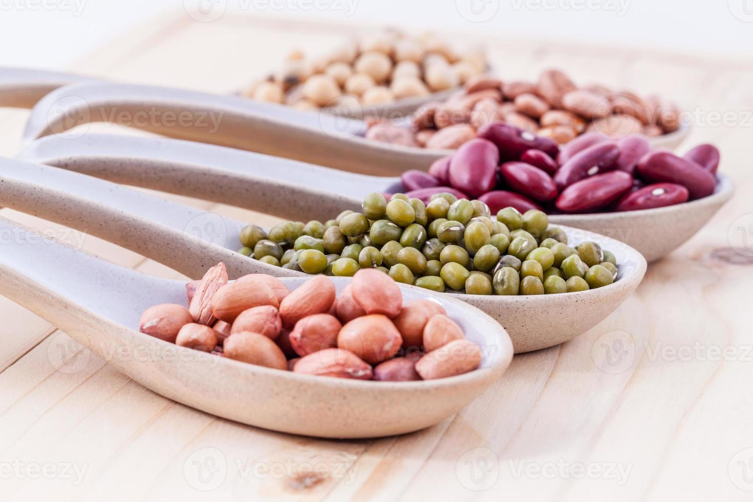Assortment of beans and lentils photo