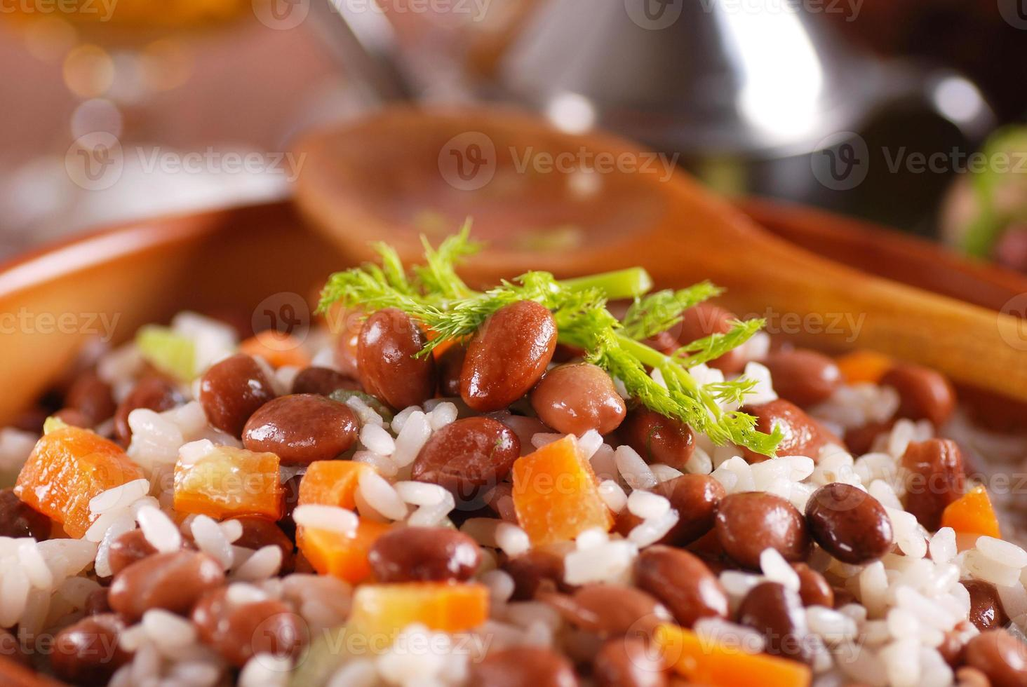 rice soup and beans photo