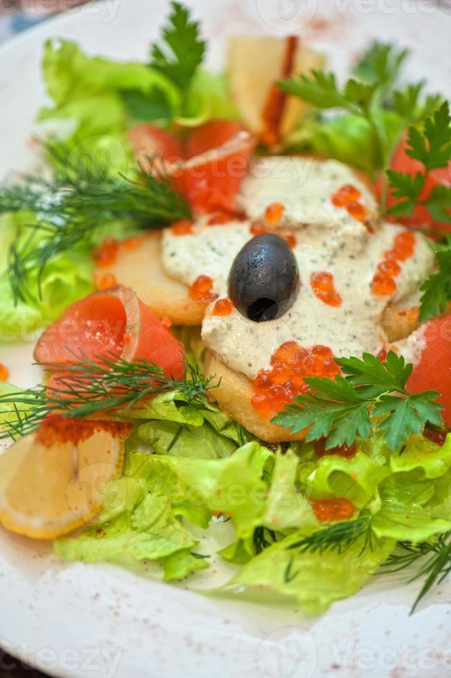 salmon salad photo