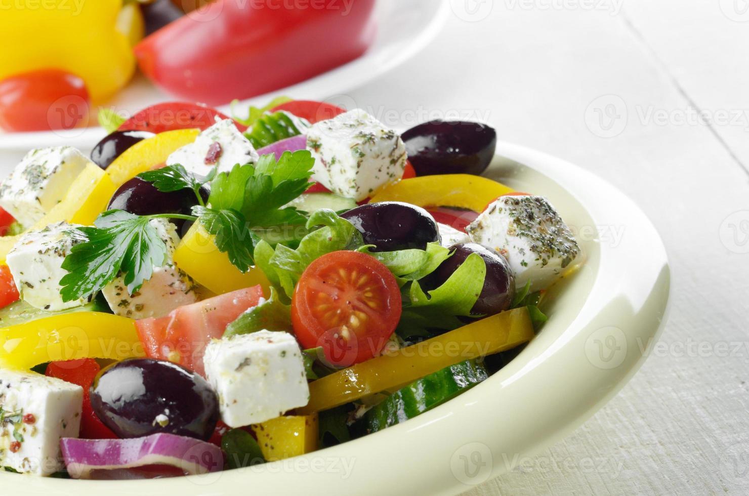 ensalada griega casera foto