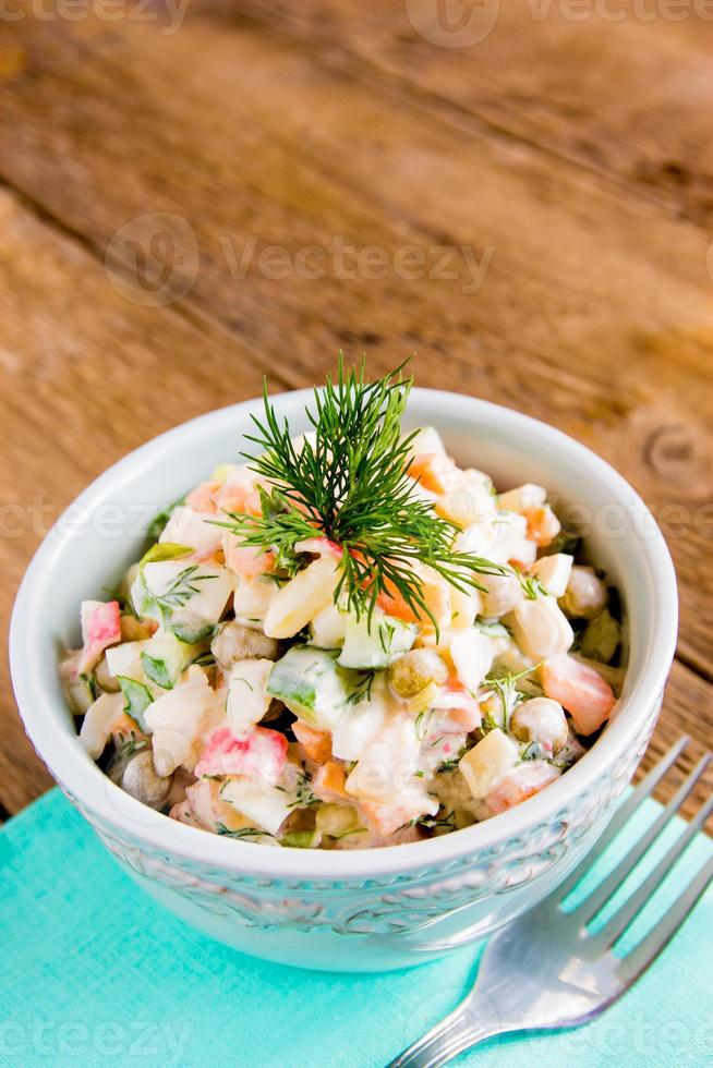 Russian salad olivier photo