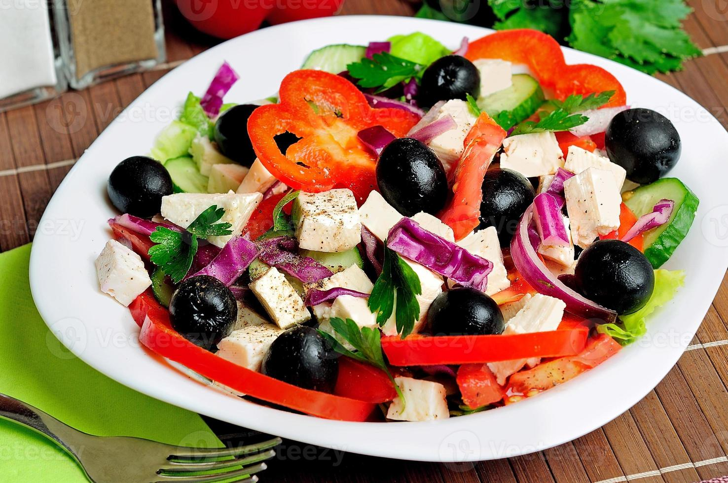 Plate with salad photo
